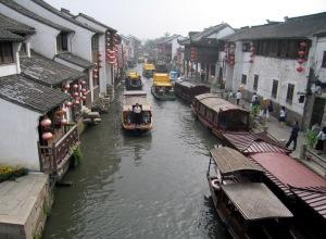 View north along the Shantang Street canal