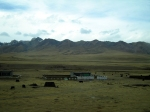 Tibetan Village on the Quinghai Tibet Plateau