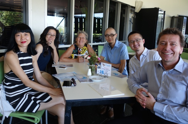 Meeting with the Director of MAGNT (from left Lui Lifen, Fan Lin, Catherine Croll, Luo Fei, Huang Yunhe and Marcus Schutenko)