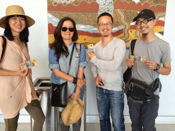Visiting Chinese curators Lui Lifen, Fan Lin, Hunag Yunhe and Luo Fei