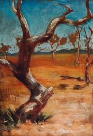 Landscape, Lake Mungo, pastels