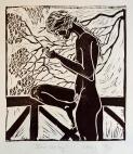 Julia Cooroy, lino cut, 29.7 x 42.0cm