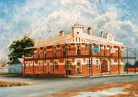 Farmers Home Hotel, Matong, oil paint