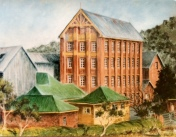 Flour Mill, Cootamundra, mixed media